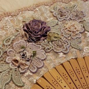 🎉 HOST PICK 🎉 Victorian Tassled Hand Fan